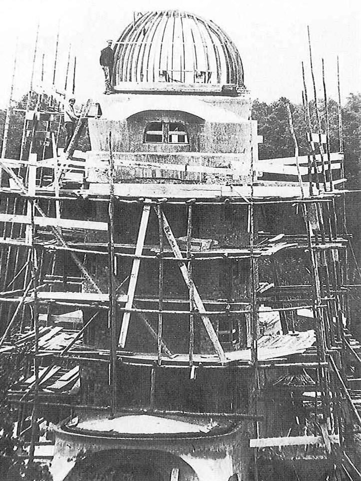 Einsteinturm im Bau aus der Zeit 1920-22