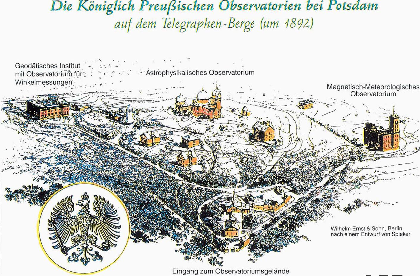 Gemälde der Königlich Preußischen Observatorien auf dem Telegrafenberg um 1892